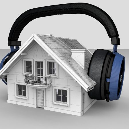 active noise canceling headphones for houses photo